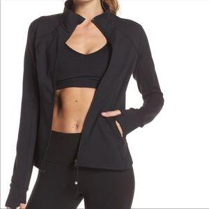 Zella Zip up black sweatshirt/ jacket large